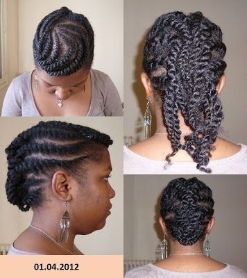 Coiffures rapides cheveux crépus