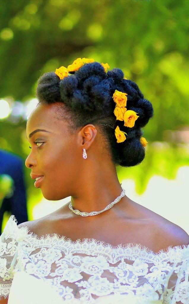 Idee coiffure mariage cheveux crepus