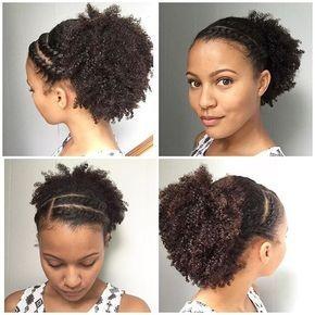 coiffure noire naturelle
