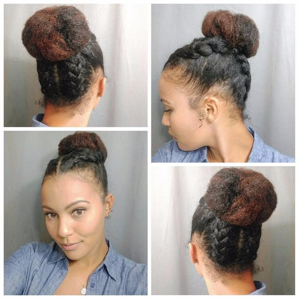 Coiffure facile cheveux court afro