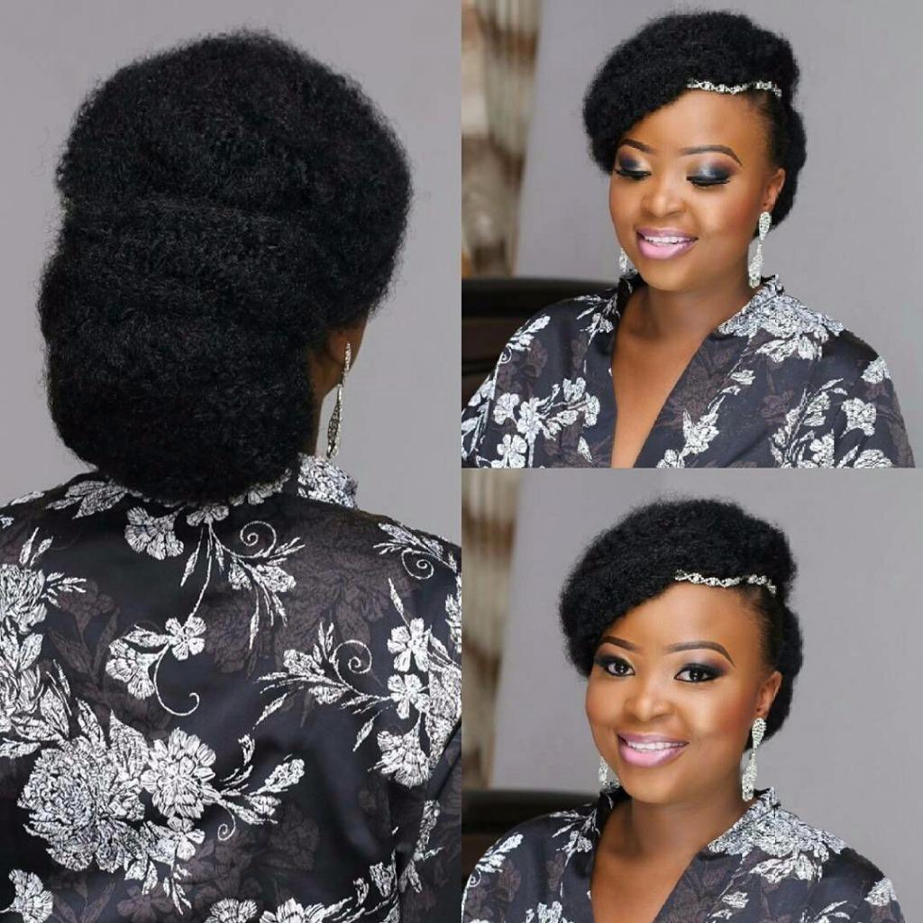 Coiffure de mariage cheveux crépus Devis sur mesure