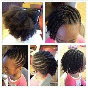 Coiffure,tresses,nattes pour enfant afro, afrodelicious