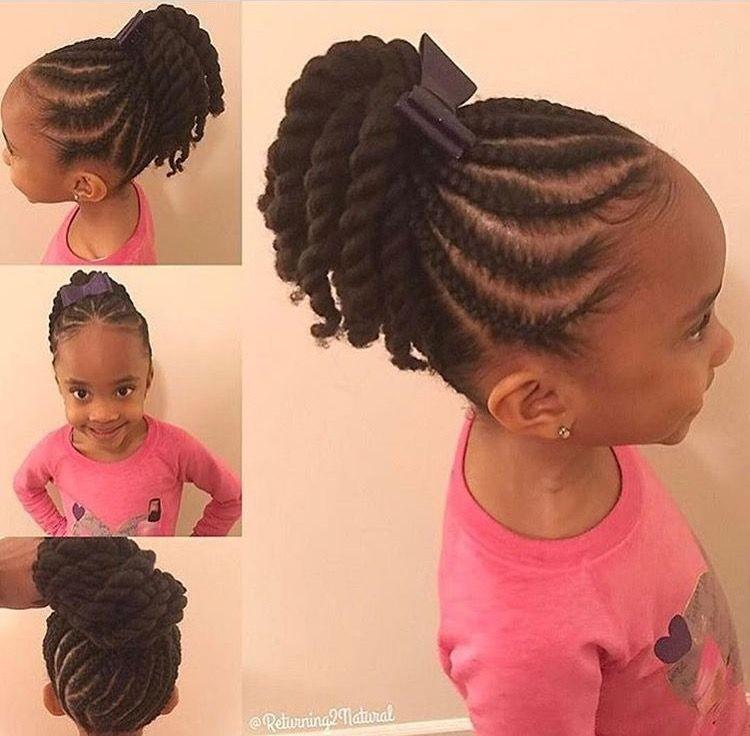coiffure petite fille afro