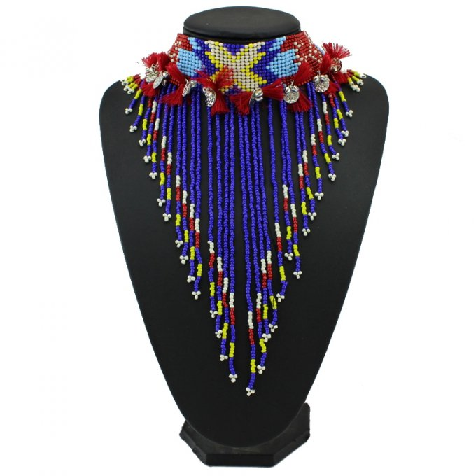 Collier massaï perles